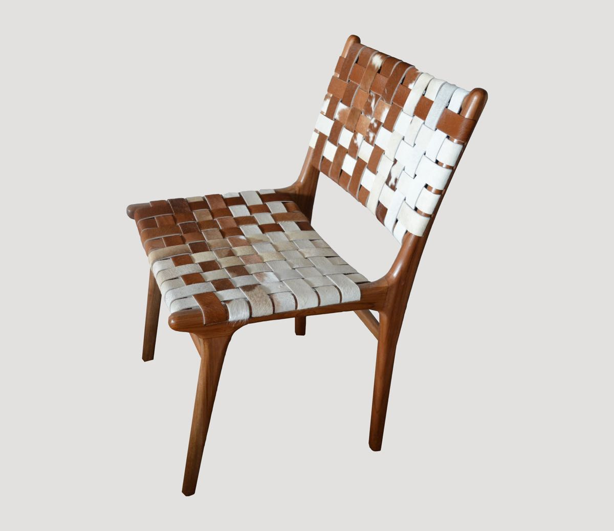 cowhide chairs modern party premium double backed chair ch00 andrianna shamaris