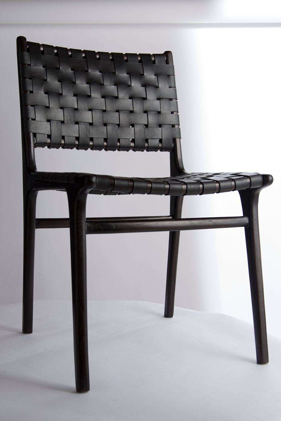 Modern Chair Series DoubleBacked Leather Woven Chair
