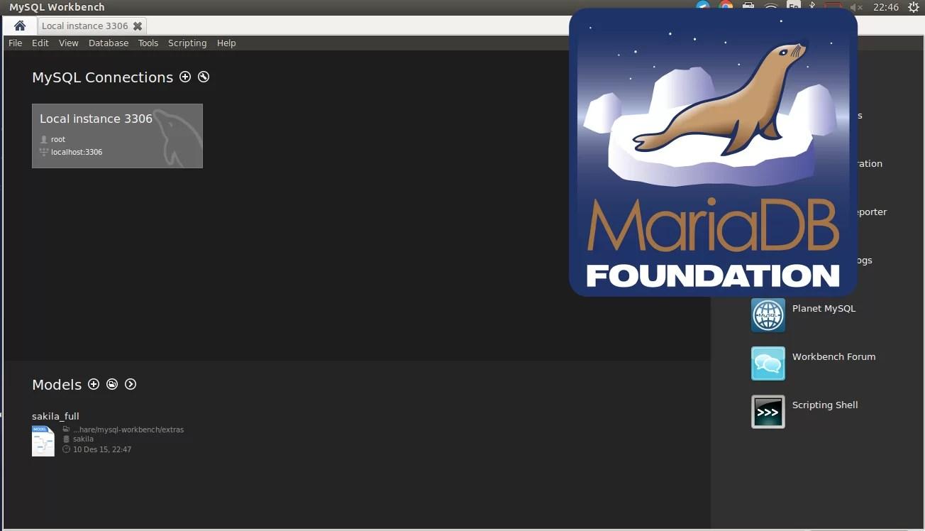 Install mysql-workbench diatas mariadb 2
