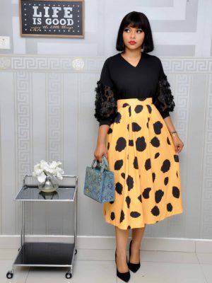 Yellow with Black Polkadot Skirts