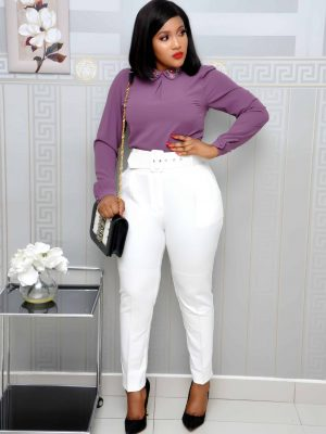 White Pencil Pant Trousers