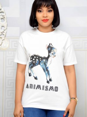 "White ""ANIM IS MO"" T-Shirt"