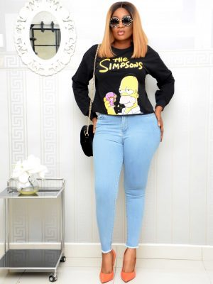 BLACK SIMPSON SWEAT SHIRT