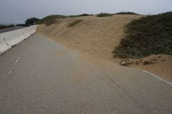 ...dann kommt der Sand.