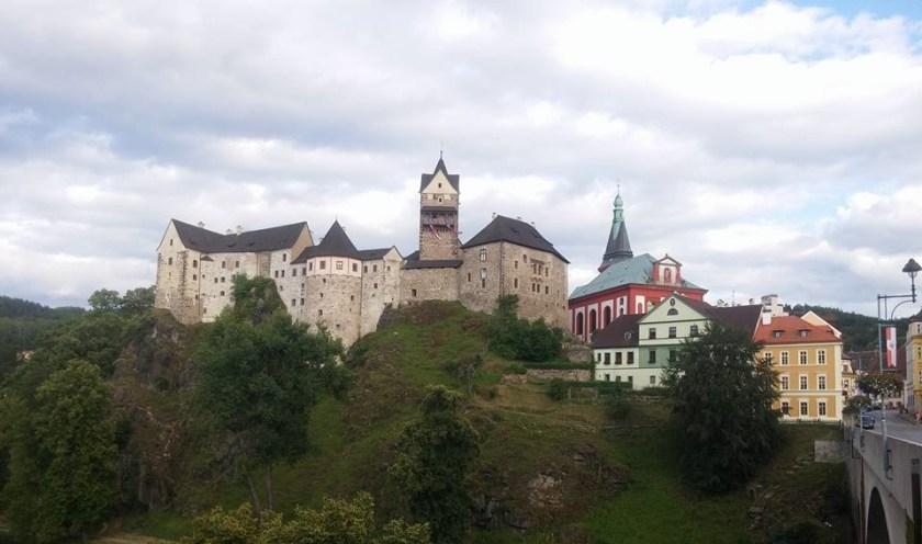 Замок Локет Чехия Средневековый Замок