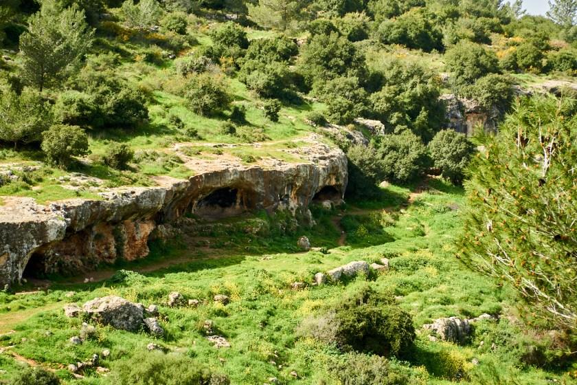 Израиль пещеры