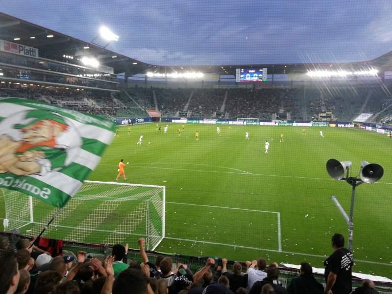 Stimmungsvolle Atmosphäre in der AFG Arena
