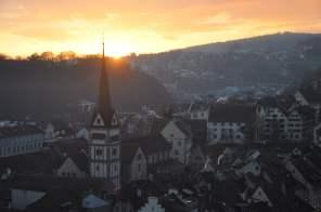 Sonnenuntergang vom Munot aus
