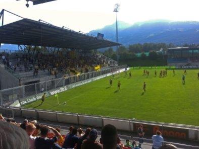 Gästefans in Vaduz