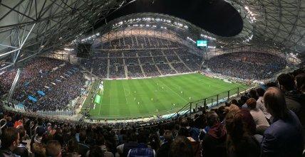 Panoramabild des neuen Velodrome Stadions