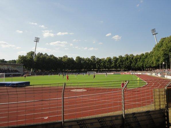Schöne Umgebung für ein Fussballspiel