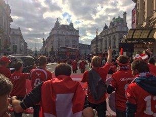 Marsch durch die Londoner Innenstadt