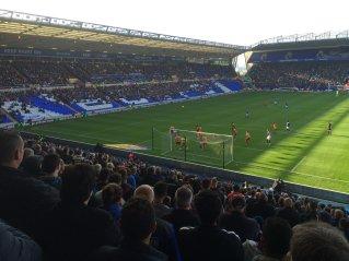 Spielszene beim Heimspiel von Birmingham City