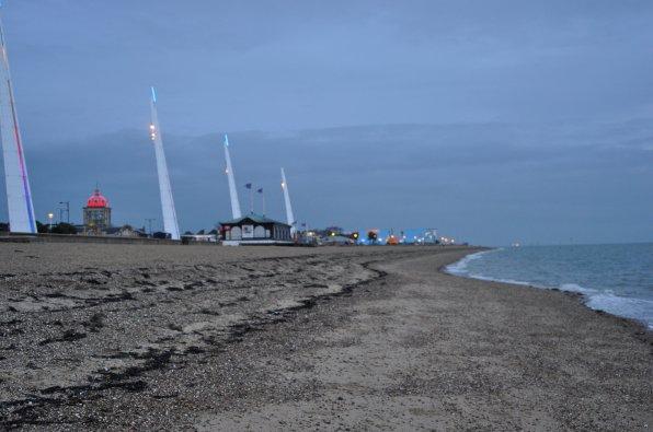 Strandabschnitt in der englischen Küstenstadt