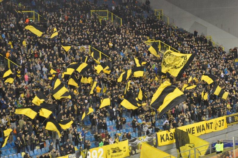 Intro der Fankurve von Vitesse Arnhem