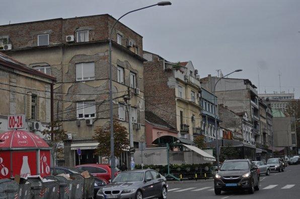 Typische Häuseransammlung in Belgrad
