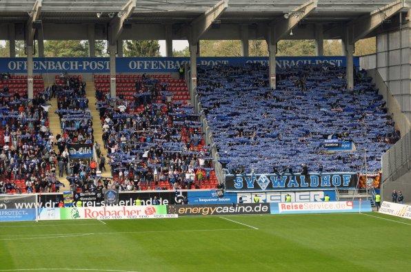 Eingangschoreo der Waldhof-Fans