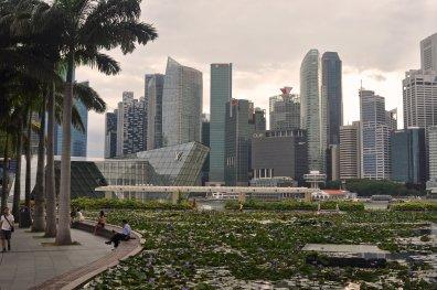 Skyline in der asiatischen Metropole Singapur
