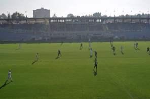 Blick auf die Haupttribüne im Stadio Sandro Cabassi