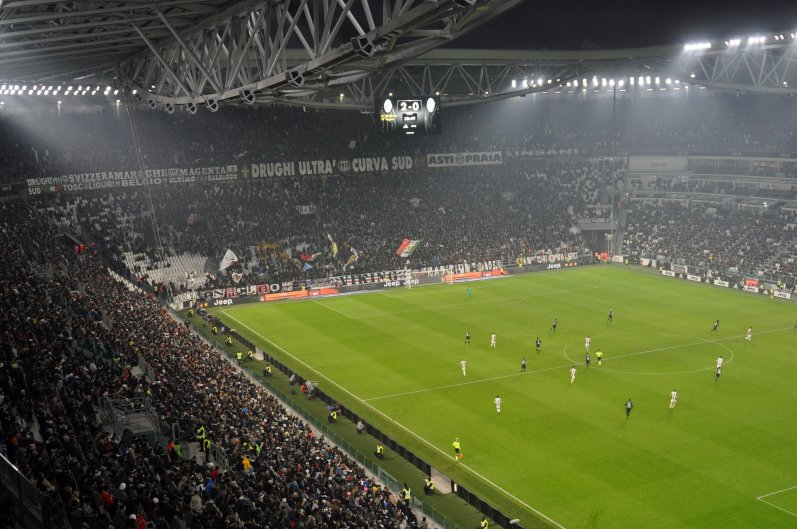 Blick in das Juventus Stadium in Turin