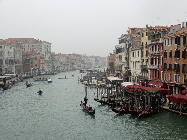 Der Canal Grande von der Rialtobrücke aus