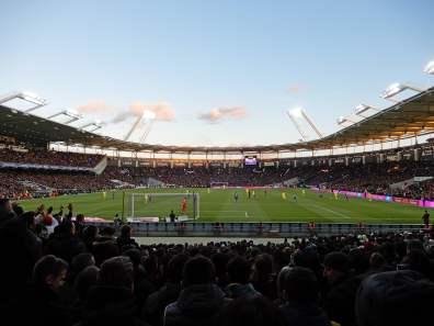 Blick in das Stadion, welches auch für die Europameisterschaft in Betrieb war