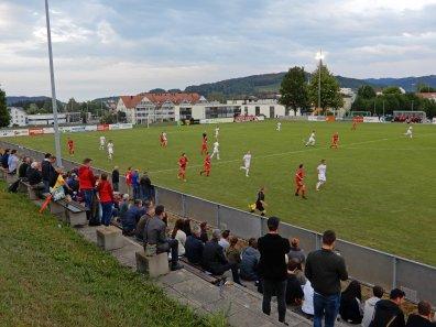Sicht über das Spielfeld im unteren Toggenburg