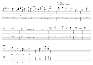 Bass solo Nightwish bass tab part 1 (2)