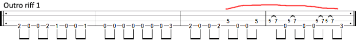 seek and destroy outro bass tab