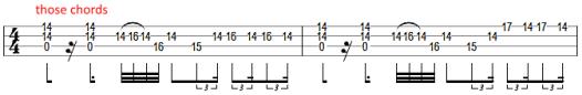 cliff burton bass solo 1983 bass tab