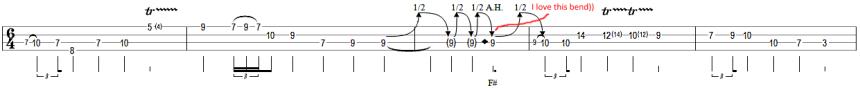 8 cliff burton bass solo star-spangled banner bass tab