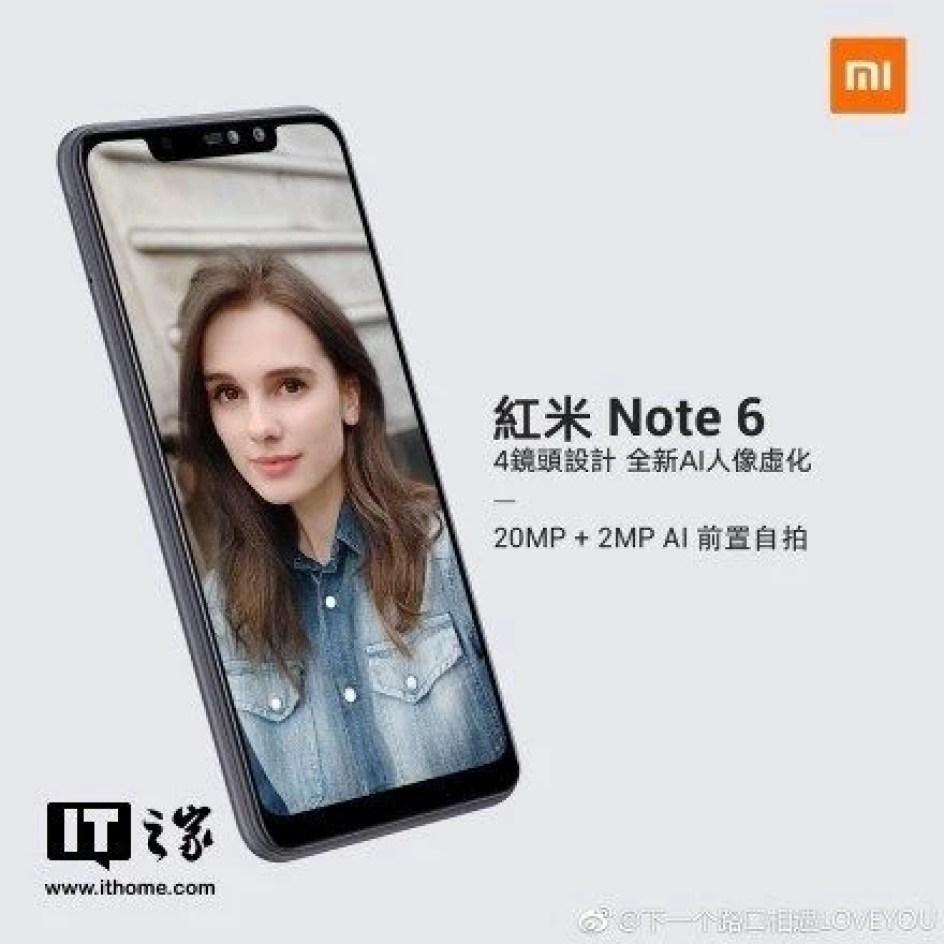 Xiaomi Redmi Note 6: предполагаемая дата анонса и характеристики – фото 2