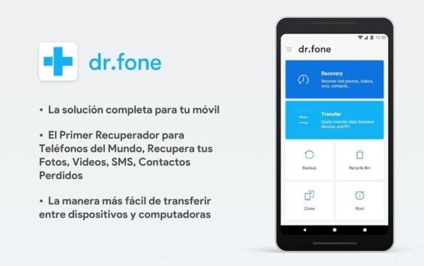 dr.Fone, recuperar videos