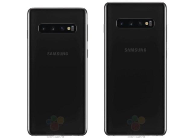Galaxy S10 y S10 Plus, trasera negra