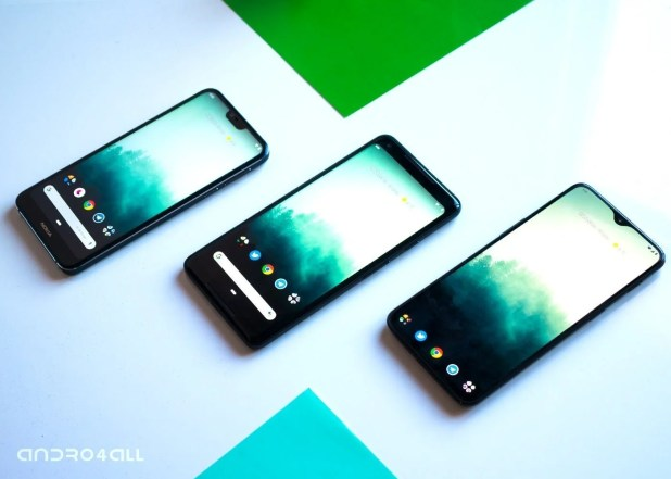 Moviles con Android One, Pixel ROM y OxygenOS