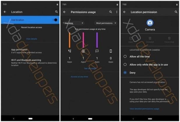Android Q implementará el tema oscuro en toda su interfaz