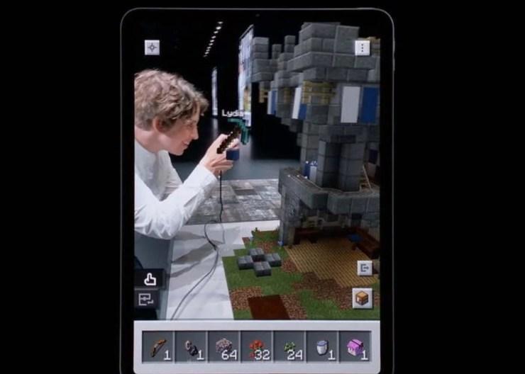 Minecraft Earth en WWDC de Apple