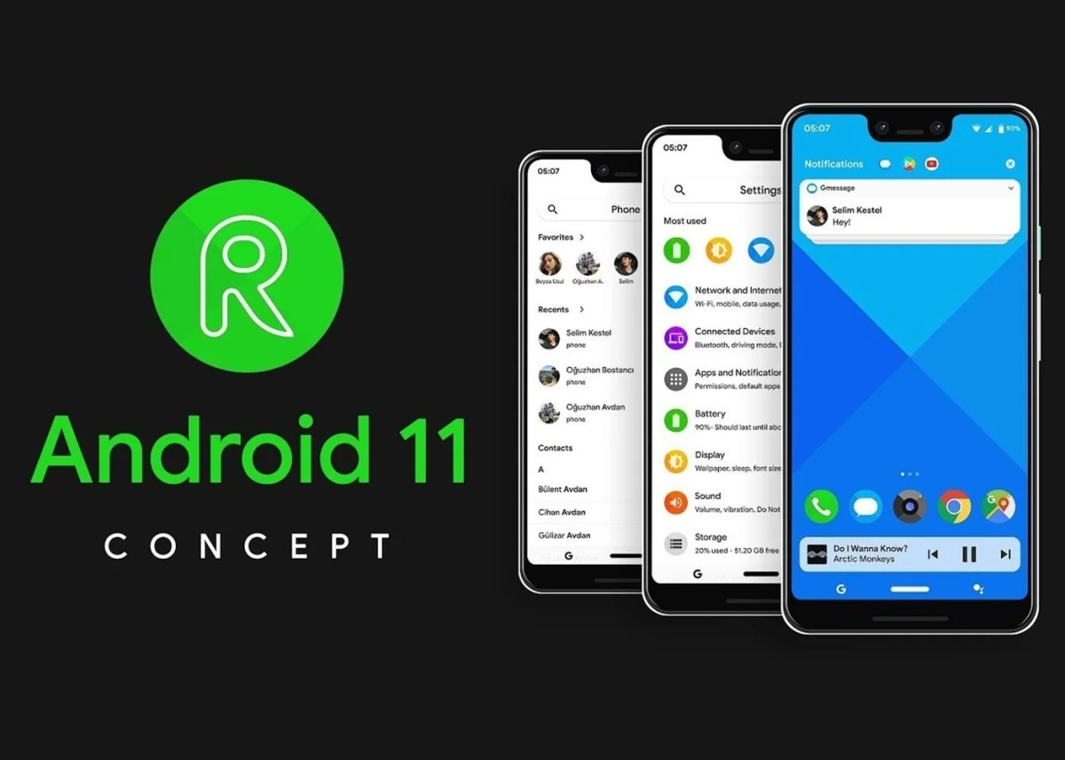 Android 11 R, concepto