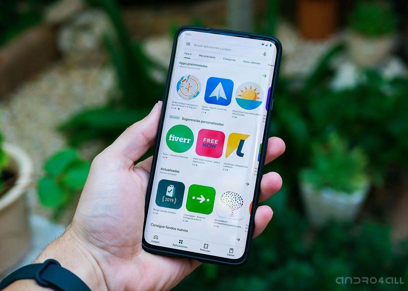 Google Play Store, nuevo diseño de 2019