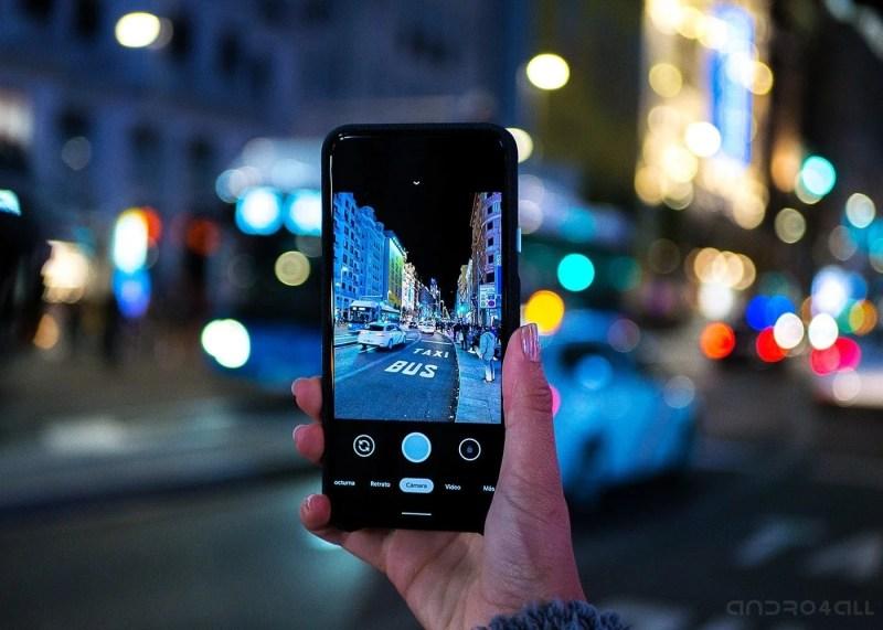 Google Pixel 4 XL, app de camara de noche