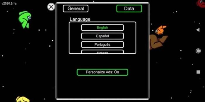 idiomas among us