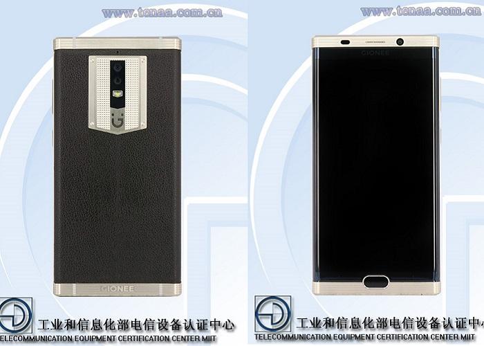Teléfono con buena batería: Gionee M2017 vista frontal y trasera