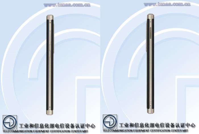 Teléfono con buena batería: Gionee M2017 diseño lateral