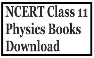 NCERT Class 11 Physics Books Download