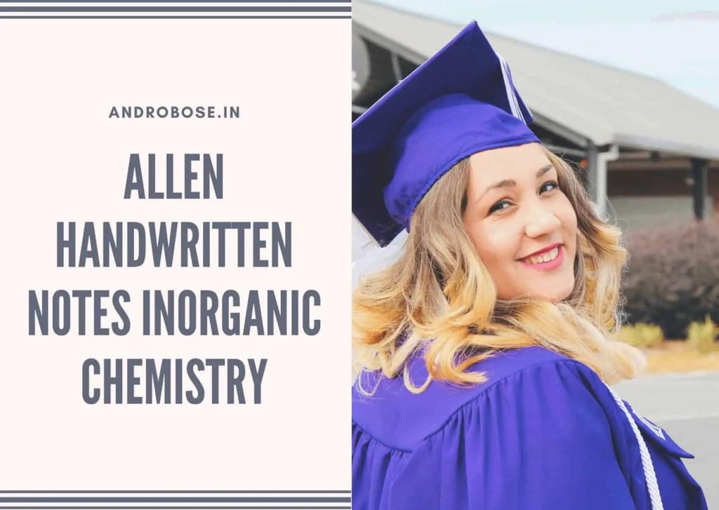 Allen Handwritten Notes Inorganic Chemistry 3