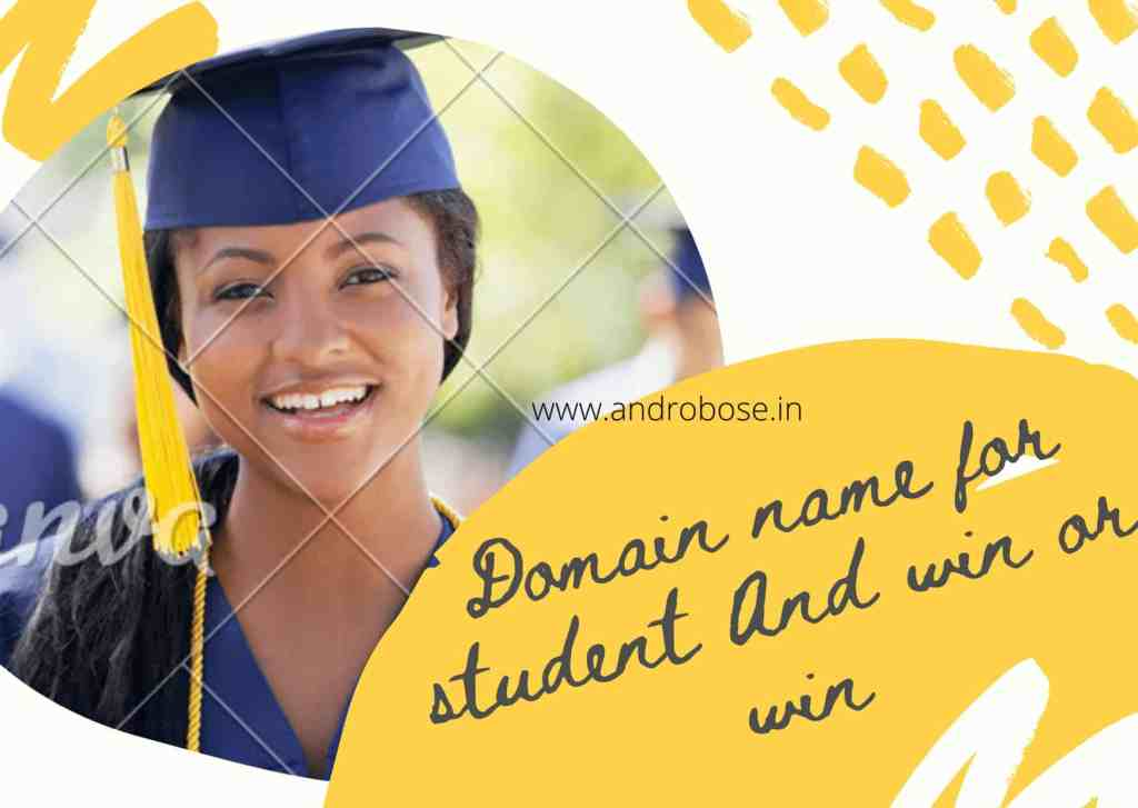 Domain name for student And win or win 3