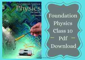 Foundation Physics Class 10 Pdf Download