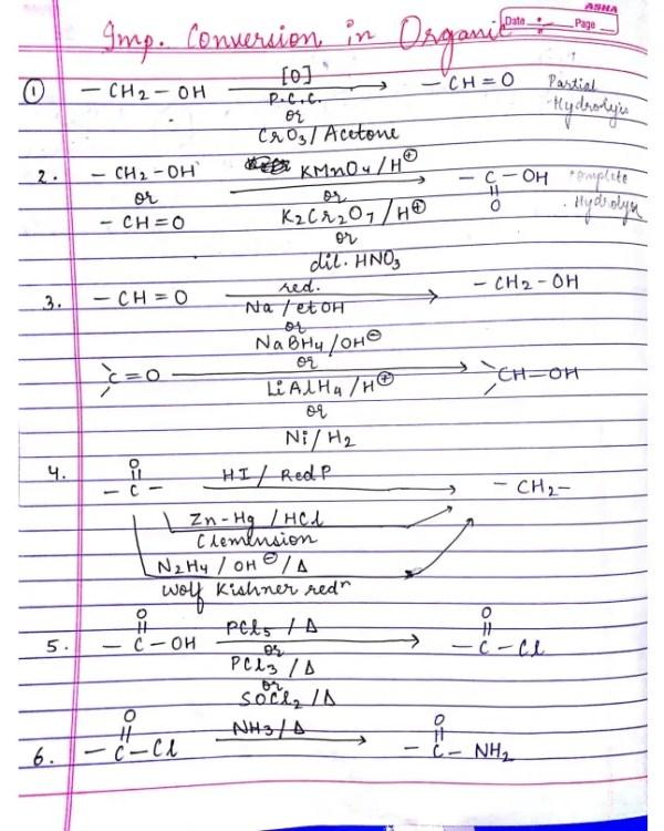 Conversion In Organic Chemistry Pdf