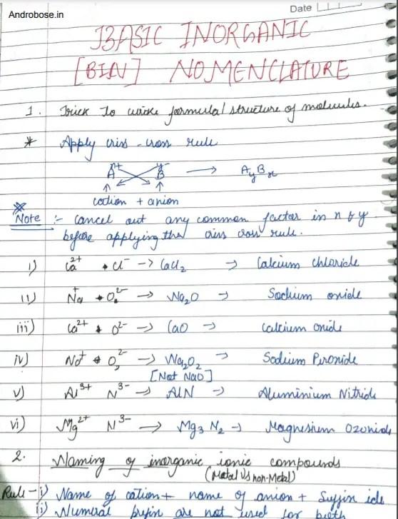 Basic Inorganic Nomenclature Pdf
