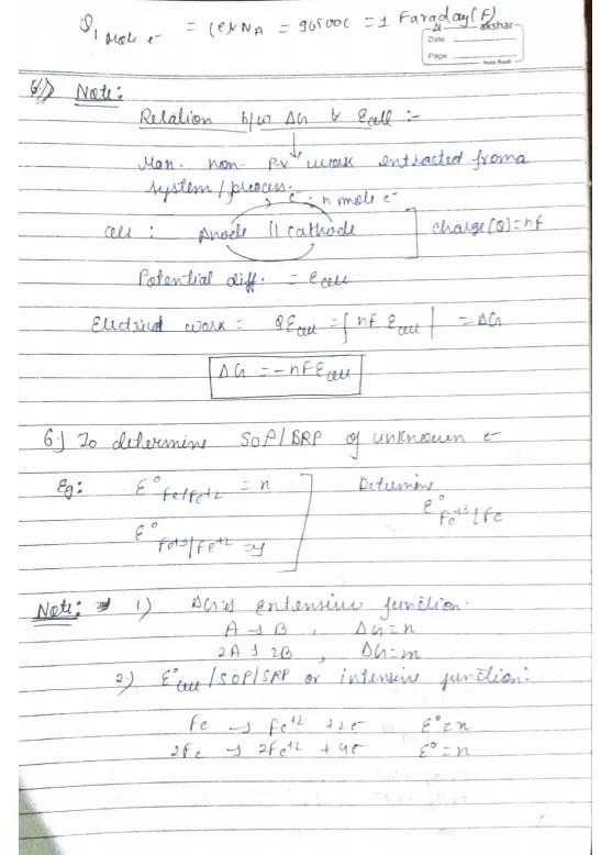 electrochemistry class 12 notes Pdf